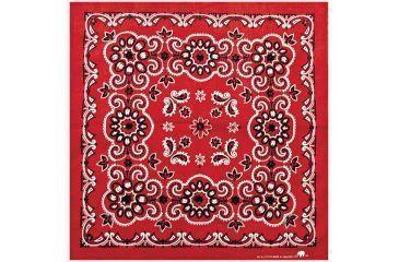Carolina Manufacturing Texas Paisley Bandana Red B27PAI-100028