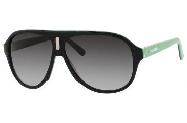 Carrera 38/S Single Vision Prescription Sunglasses CA38S-08Y9-9O-5910 - Lens Diameter 59 mm, Frame Color Black Green White