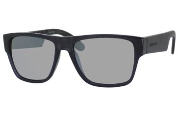 Carrera 5002/S Sunglasses CA5002S-0B7V-JI-5517 - Transparent Gray / Mlzan Frame, Silver Mirror Lenses, Lens Diameter 55mm, Distance Between Lenses 17mm