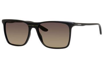 Carrera 6012/S Progressive Prescription Sunglasses CA6012S-0DL5-R4-5517 - Frame Color Matte Black, Lens Diameter 55 mm