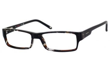 Carrera 6184 Eyeglass Frames CA6184-08Q0-5215 - Havana Gray Black Frame, Lens Diameter 52mm, Distance Between Lenses 15mm