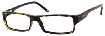Carrera 6184 Single Vision Prescription Eyeglasses CA6184-0FQF-5215 - Havana Black Frame, Lens Diameter 52mm, Distance Between Lenses 15mm