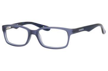 Carrera 6216 Eyeglass Frames CA6216-0BMP-4616 - Matte Blue Frame, Lens Diameter 46mm, Distance Between Lenses 16mm