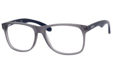 Carrera 6603 Progressive Prescription Eyeglasses CA6603-0BEO-5516 - Gray Matte / Blue Frame, Lens Diameter 55mm, Distance Between Lenses 16mm