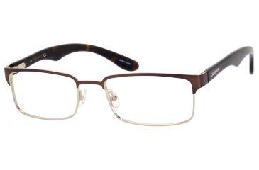 Carrera 6606 Single Vision Prescription Eyeglasses CA6606-0BDV-5318 - Brown / Light Gold Frame, Lens Diameter 53mm, Distance Between Lenses 18mm