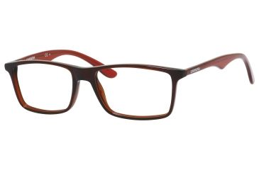 Carrera 6611 Bifocal Prescription Eyeglasses CA6611-0DFT-5316 - Dark Red / Transparent Red Frame, Lens Diameter 53mm, Distance Between Lenses 16mm