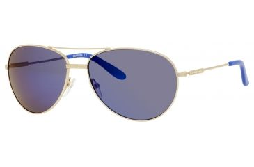 Carrera 69/S Sunglasses CA69S-0AOZ-XT-6015 - Semi Matte Gold Frame, Blue Sky Miror Lenses, Lens Diameter 60mm, Distance Between Lenses 15mm