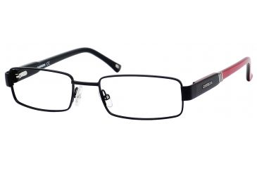 Carrera 7550 Single Vision Prescription Eyeglasses CA7550-087I-5118 - Matte Black / Red Black Frame, Lens Diameter 51mm, Distance Between Lenses 18mm