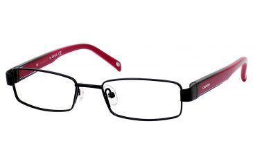 Carrera 7566 Eyeglass Frames CA7566-0003-4416 - Black Frame, Lens Diameter 44mm, Distance Between Lenses 16mm