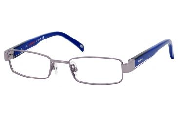 Carrera 7566 Progressive Prescription Eyeglasses CA7566-01J1-4416 - Gunmetal Frame, Lens Diameter 44mm, Distance Between Lenses 16mm