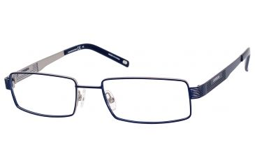 Carrera 7568 Single Vision Prescription Eyeglasses CA7568-0KU0-5217 - Matte Blue Ruthenium Frame, Lens Diameter 52mm, Distance Between Lenses 17mm