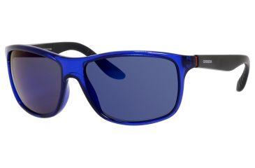 Carrera 8001/S Single Vision Prescription Sunglasses CA8001S-00VI-1G-6116 - Lens Diameter 61 mm, Frame Color Blue Transparent