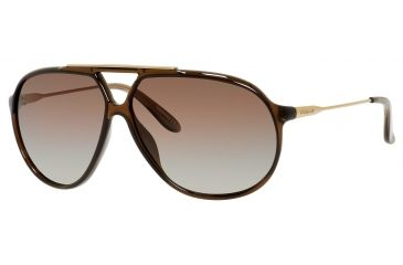 Carrera 82/S Single Vision Prescription Sunglasses CA82S-00KX-LA-6411 - Lens Diameter 64 mm, Frame Color Transparent Brown