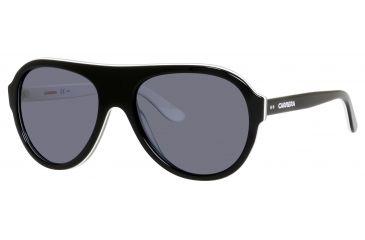 Carrera 84/S Single Vision Prescription Sunglasses CA84S-04IZ-W7-5819 - Frame Color Black White Gray, Lens Diameter 58 mm