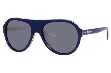 Carrera 84/S Single Vision Prescription Sunglasses CA84S-08W3-W7-5819 - Frame Color Blue L Ivory Red, Lens Diameter 58 mm