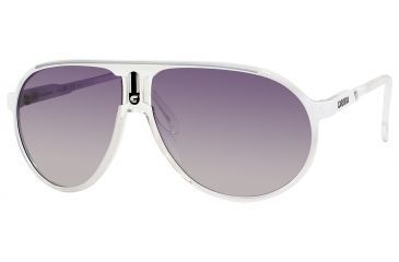 Carrera Champion/C/S Sunglasses CHAMPCS-0KYL-IC-6212 - White Crystal Shaded Frame, Gray Mirror Gradient Silver Lenses, Lens Diameter 62mm, Distance Between Lenses 12mm