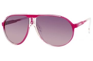 Carrera Champion/C/S Sunglasses CHAMPCS-0KYM-OE-6212 - Fuchsia Crystal Shaded Frame, Violet Flash Silver Lenses, Lens Diameter 62mm, Distance Between Lenses 12mm