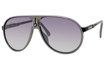 Carrera Champion/T/S Bifocal Prescription Sunglasses CHAMPTS-0JO4-IC-6212 - Lens Diameter 62 mm, Frame Color Metallic Gray Black Silver