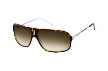 Carrera Cool Sunglasses - Havana White / Palladium Frame, Brown Gray Gradient Lenses COOLS0F80DB