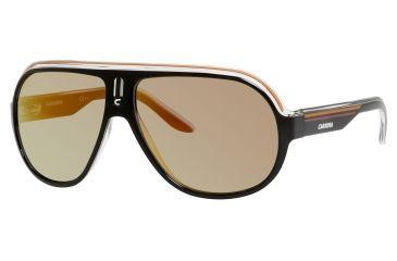 Carrera Speedway/S Sunglasses SPEEDS-0KEE-UW-6312 - Black Crystal Orange Frame, Gray Gradient Lenses, Lens Diameter 63mm, Distance Between Lenses 12mm