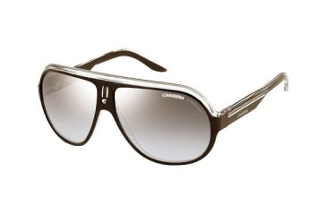 Carrera Speedway Single Vision Rx Sunglasses - Black Crystal Silver Frame SPEEDS0KE4IC
