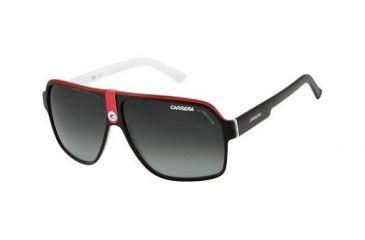 Carrera 33S Sunglasses - Black Crystal White Frame, Gray Gradient Lenses CA33S08V4PT