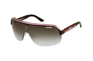 Carrera Topcar 1 Sunglasses - Black Crystal Red Frame, Gray Gradient Lenses TOPCA1S0KB0PT