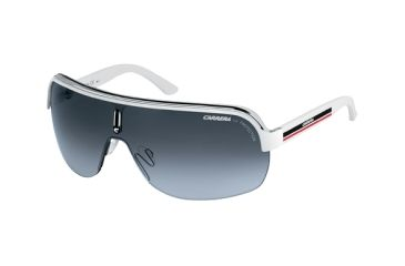 Carrera Topcar 1 Sunglasses - White Crystal Black Frame, Gray Gradient Lenses TOPCA1S0KC0VK
