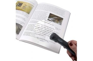 Carson 2x LED Lighted Rimless Magnifier w/ Batteries and Case RM-95