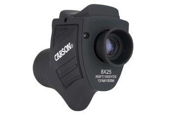 Carson Bandit 8x25mm Porro Prism Monocular, Black w/ One Touch Focus Lever BA-825