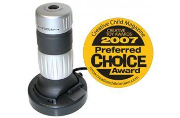 Carson zPix 26x-130x Digital Zoom Microscope, Gray w/ 3.6deg Aperture, New MM 640