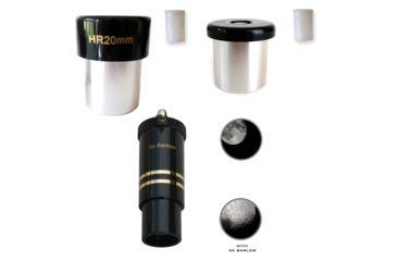 Cassini 20mm, 12.5mm, 6mm, .965 inch format eyepiece set, Black, 9653PCSET