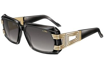Cazal 8001 Sunglasses - 1 Black-Gold/Grey Gradient Lenses