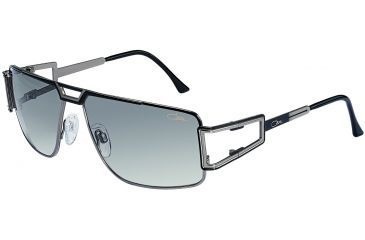 Cazal 9014 Sun Glasses with Black-Silver Frame