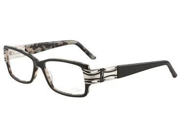 Cazal Womens 3013 Eyeglasses - Black-Silver Frame w/ Clear Lenses, Size 54-14-135 3013-002