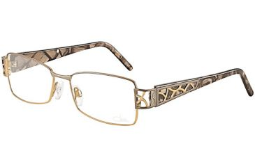 Cazal Womens 4169 Eyeglasses - Taupe Copper Frame w/ Clear Lenses, Size 53-16-130 4169-001