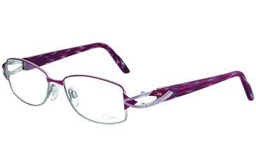 Cazal Womens 4188 Eyeglasses - Bordeaux-Silver Frame w/ Clear Lenses, Size 51-16-135 4188-001
