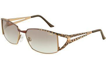 Cazal Womens 9023 Eyeglasses - Brown-Leopard/Brown Lens Frame w/ Brown Gradient Lenses, Size 58-15-125 9023-003