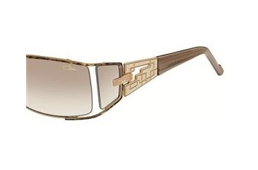 Cazal Womens 9032 Sunglasses -  Leopard Frame w/ Brown Gradient Lenses, Size 59-17-120 9032-002