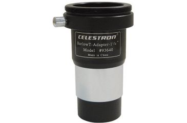 Celestron Telescope T-Ring Adaptor 93640 1-1/4inch Universal T Adapter with integral 2x Barlow lens