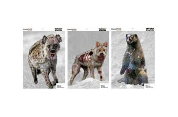 Champion Traps and Targets 46056 Zombie Visicolor Vicious Animal Variety Pack 12x18 6 Pack