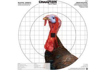 Champion Traps and Targets 46114 Re Stick Turkey Sight In Target 16x16
