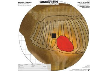 Champion Traps and Targets 46118 Re Stick Deer Vitals Sight In Target 16x16