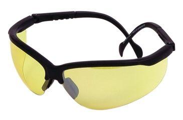 Champion Shooting Glasses, Black Curved Adjustable Frame - Yellow Lens 40610