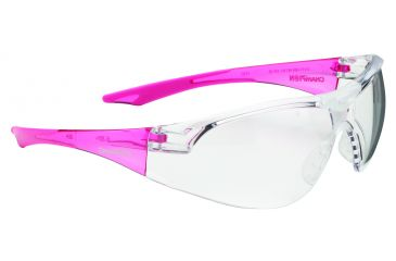 Champion Shooting Glasses Youth Clear Glasses, Pink Temples(Ballistic), Pink/Clear 55604