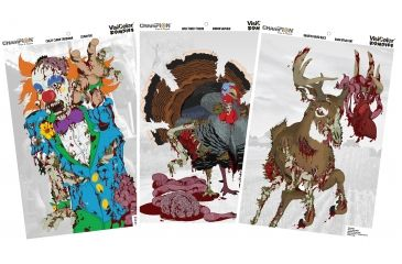 Champion Zombie Visicolor Cartoon Variety Pack 12X18 (6 Pack), Multi-color 46042