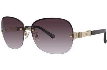 Chloe CL2215 Sunglasses - Frame Gold/Dark Tortoise, Lens Color Gradient Brown CL221502