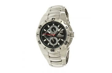 Chronotech Active 7935  Watch - Chrome Stainless Steel Band, Black Face Ct.7935cm/42m