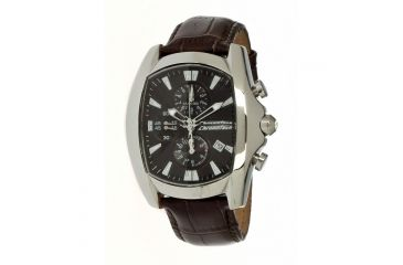 Chronotech Prisma First 7106  Watch - Brown Band, Silver/Black Face Ct.7106m/05