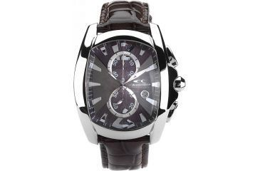 Chronotech Reloaded 7024 M62  Watch - Brown Band, Silver/Black Face Ct.7024m/62